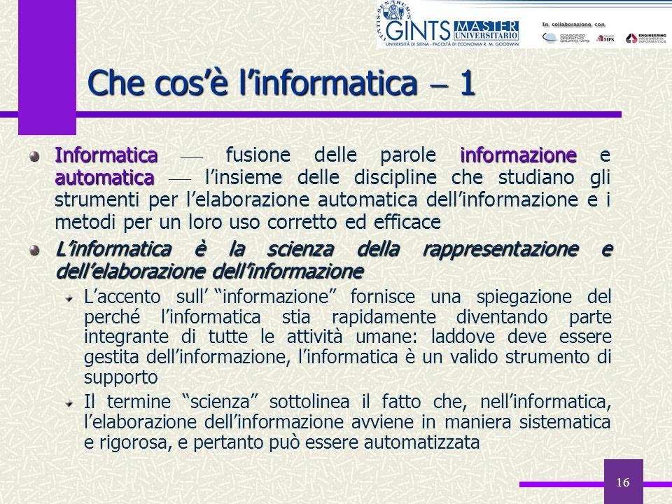 Che cos'è l'informatica  1