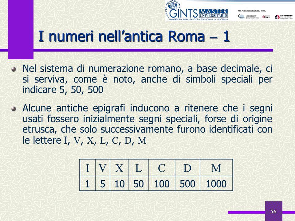 I numeri nell'antica Roma  1