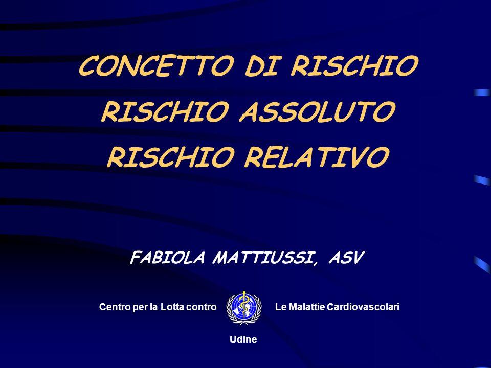 CONCETTO DI RISCHIO RISCHIO ASSOLUTO RISCHIO RELATIVO