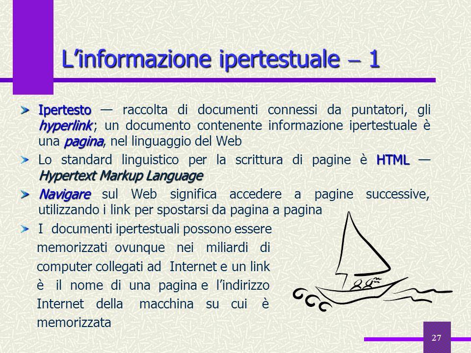 L'informazione ipertestuale  1