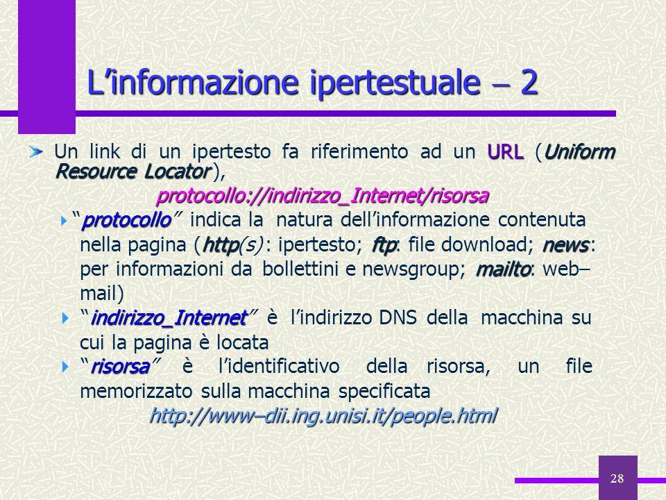 L'informazione ipertestuale  2
