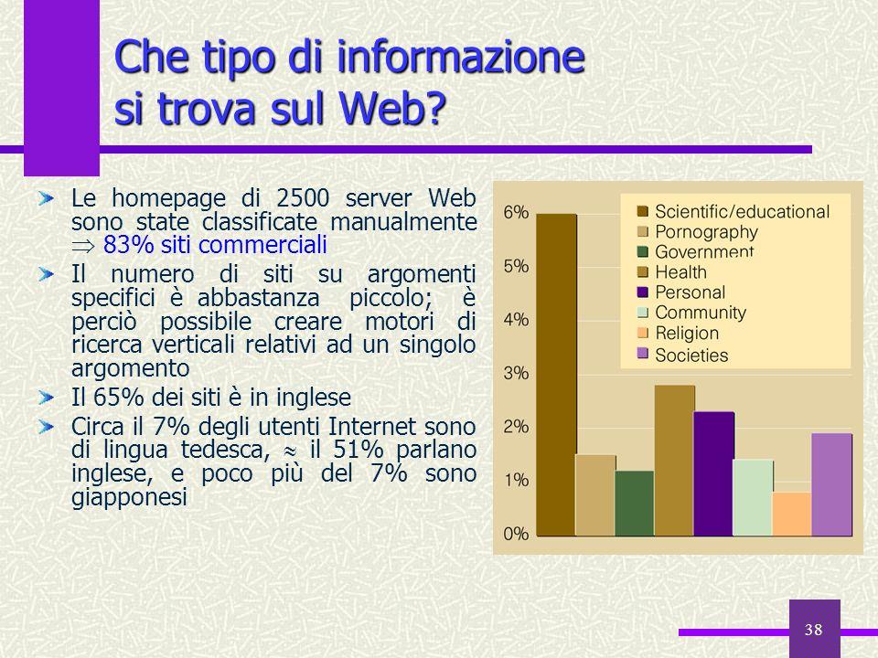 Che tipo di informazione si trova sul Web