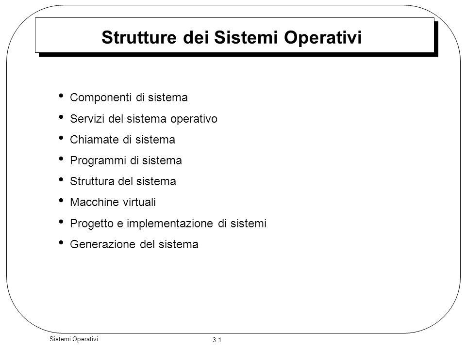 Strutture dei Sistemi Operativi