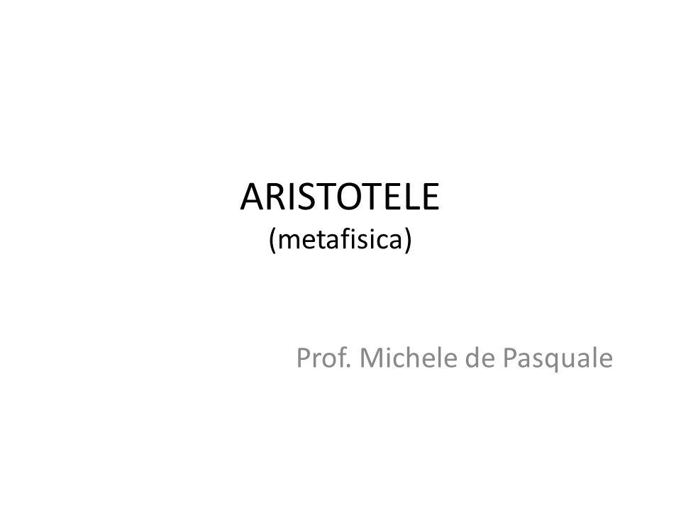 ARISTOTELE (metafisica)