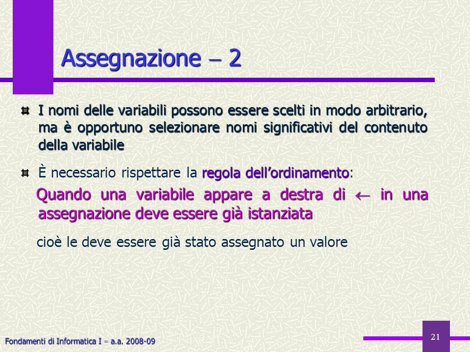 Assegnazione  2