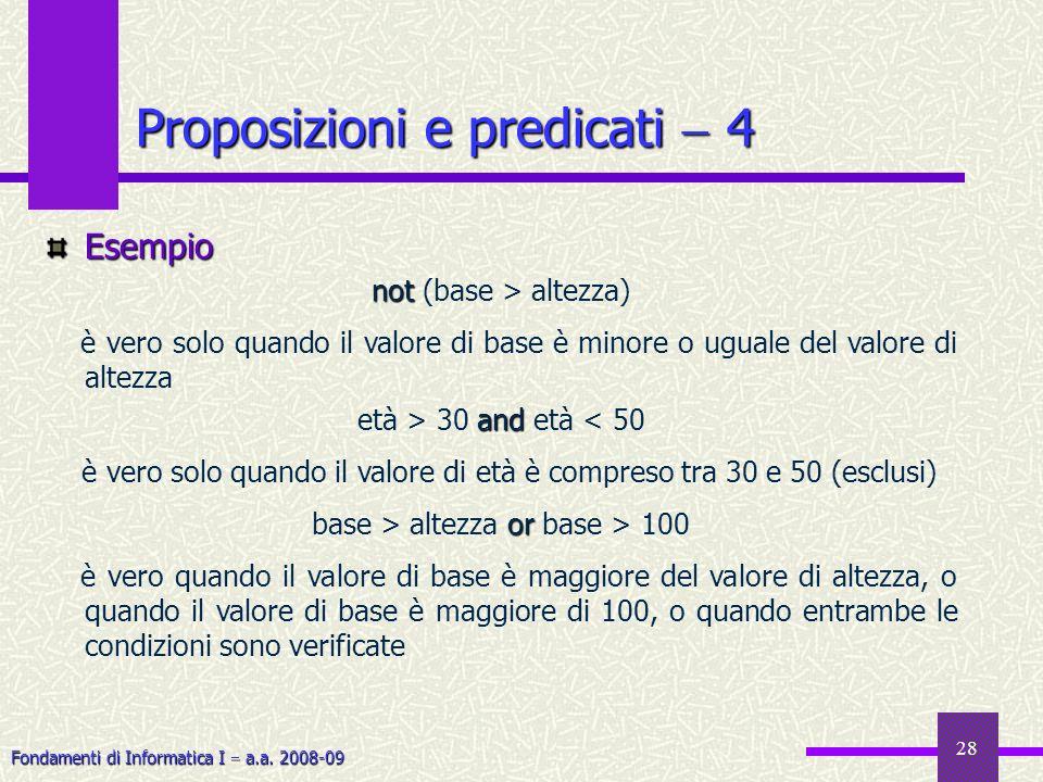 Proposizioni e predicati  4