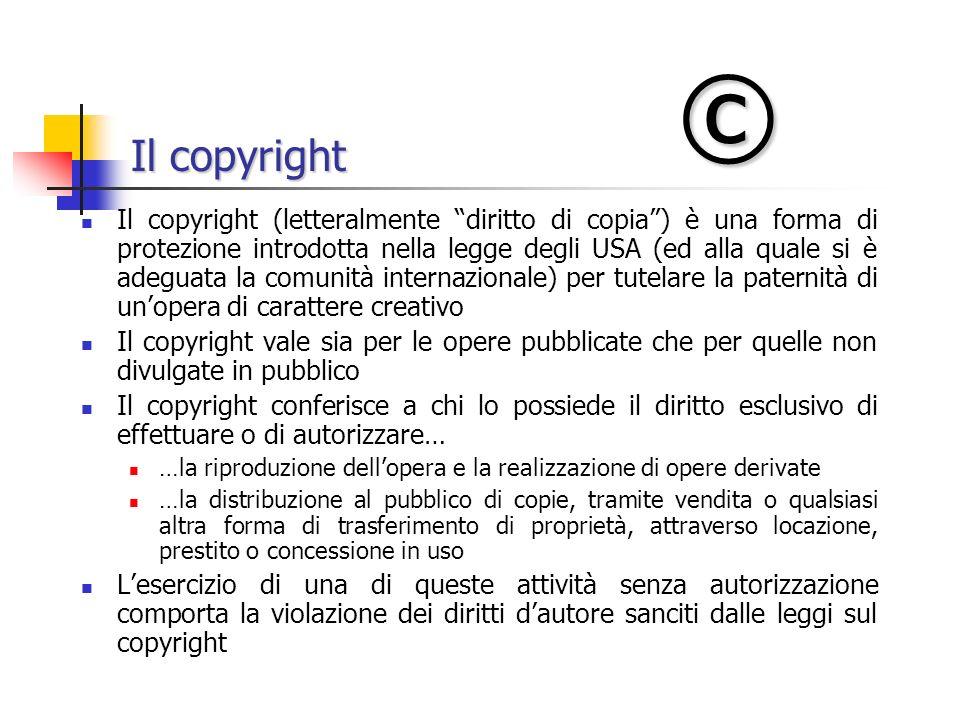 © Il copyright.