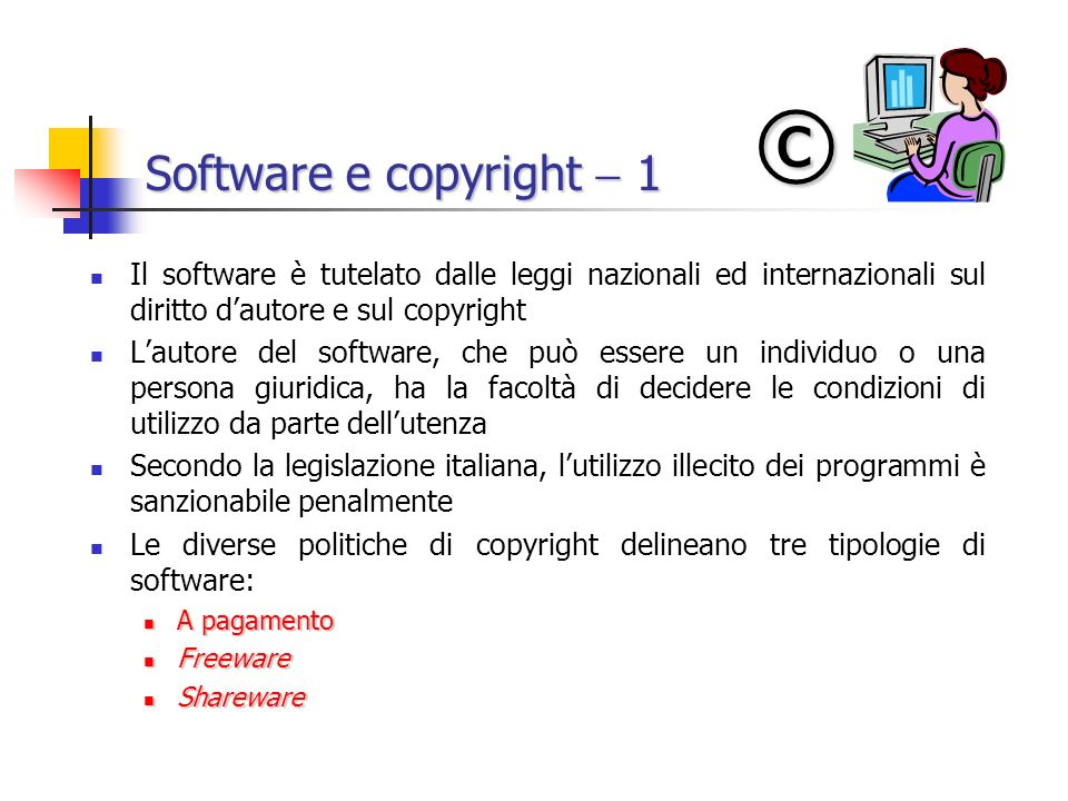 © Software e copyright  1