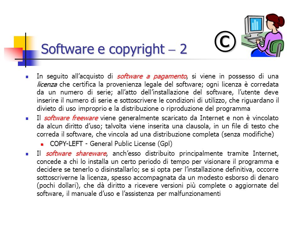 © Software e copyright  2