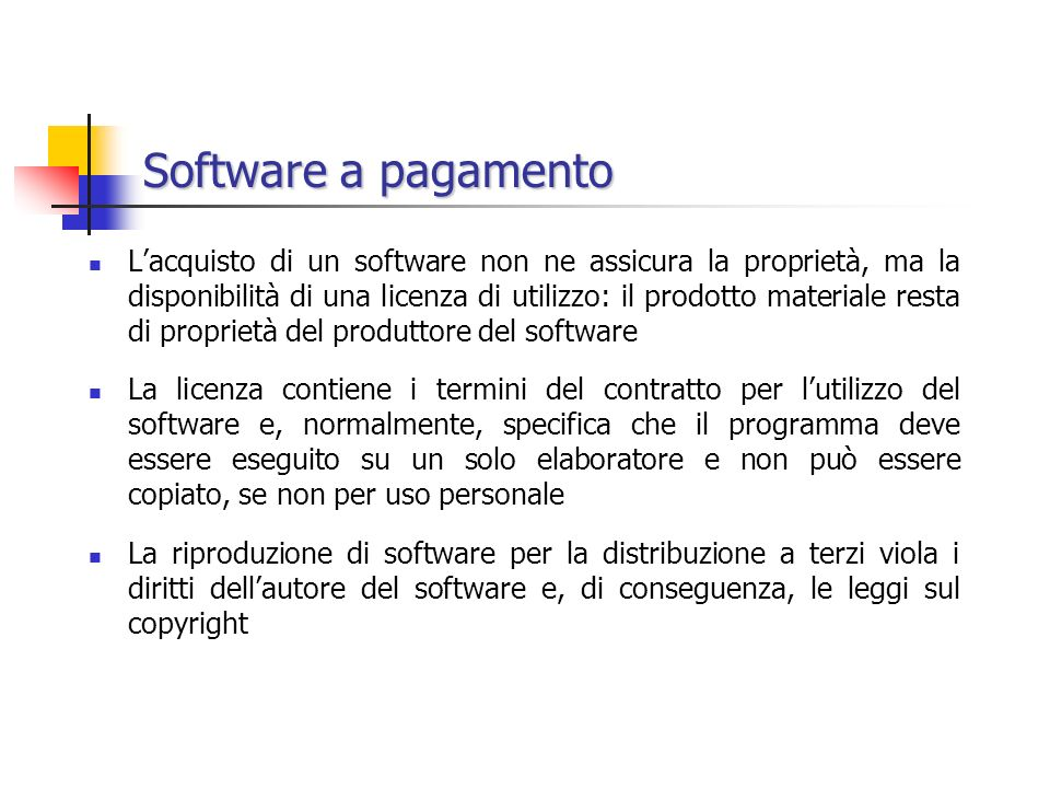 Software a pagamento