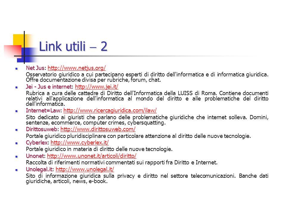 Link utili  2 Net Jus: http://www.netjus.org/