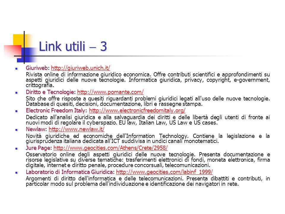 Link utili  3 Giuriweb: http://giuriweb.unich.it/