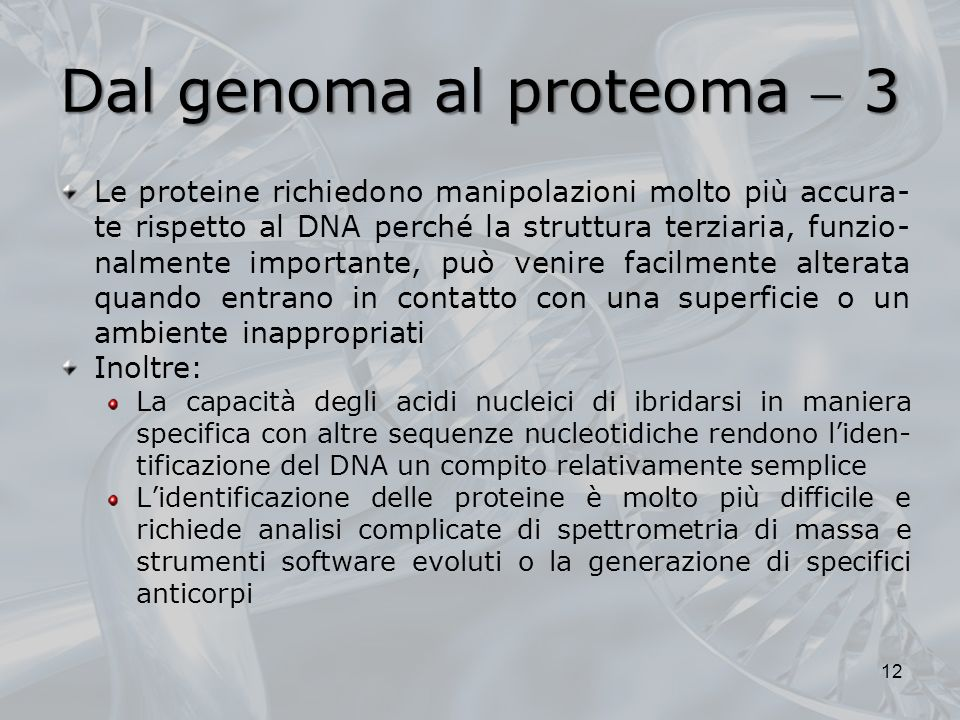 Dal genoma al proteoma  3