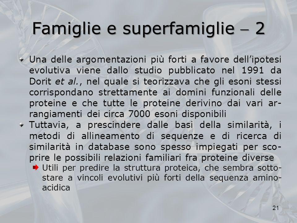 Famiglie e superfamiglie  2