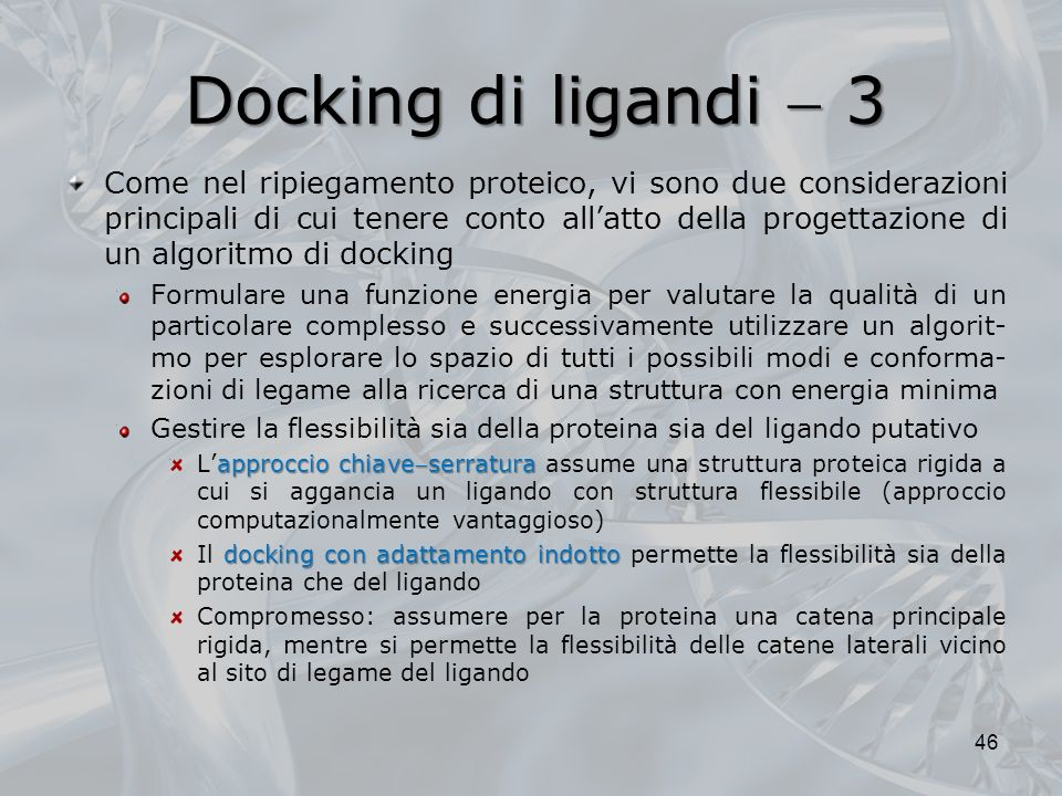 Docking di ligandi  3