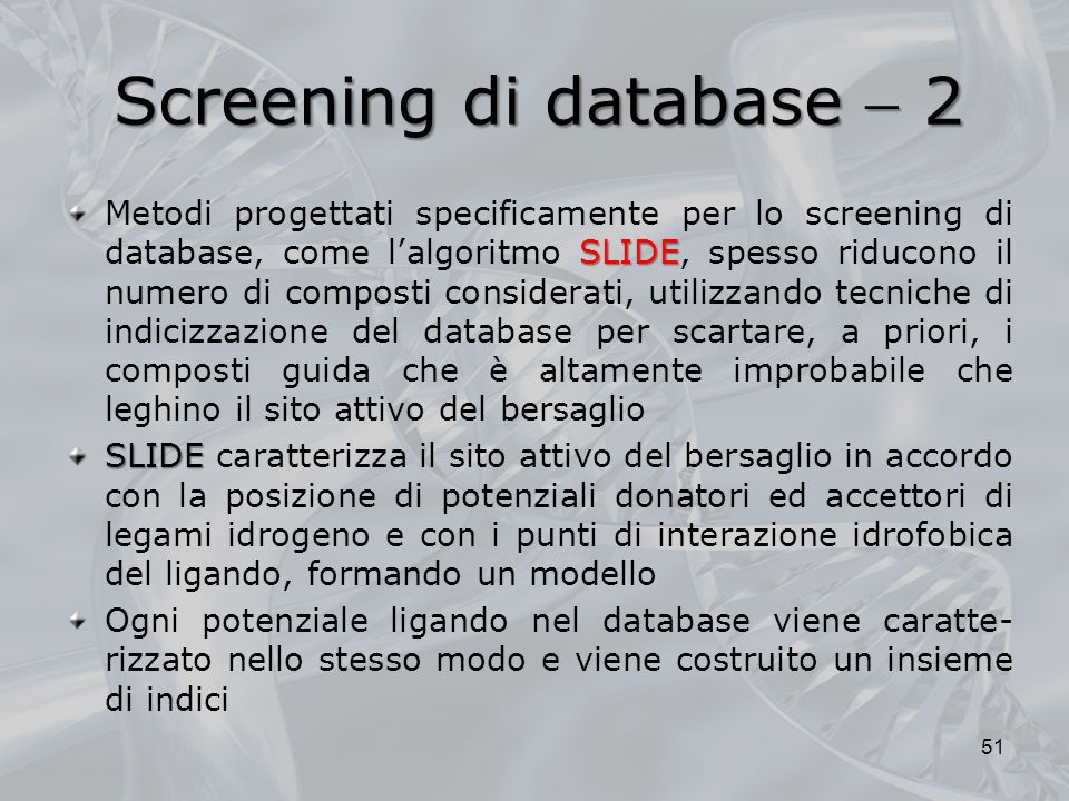 Screening di database  2