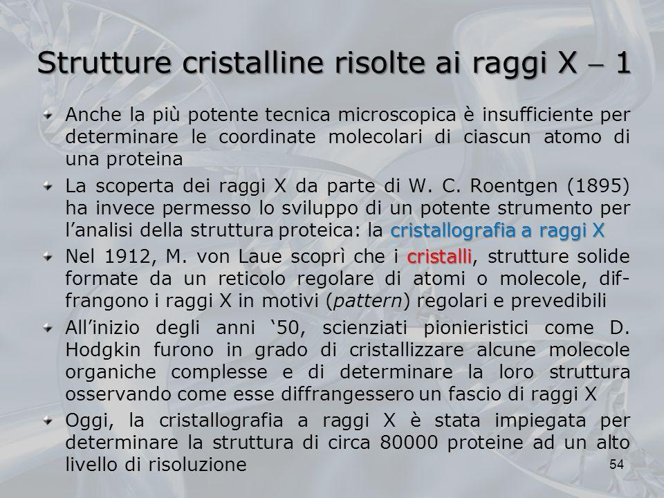 Strutture cristalline risolte ai raggi X  1