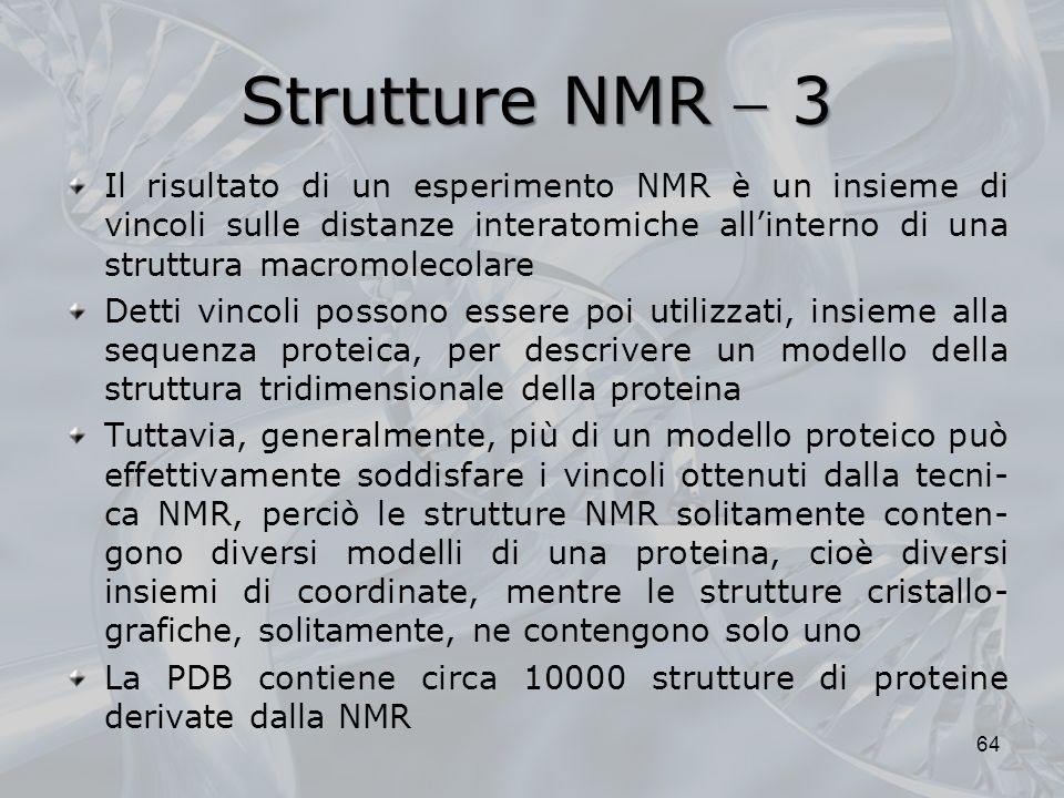 Strutture NMR  3