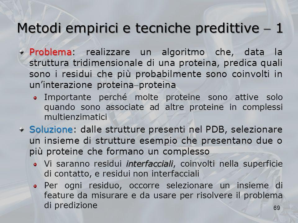 Metodi empirici e tecniche predittive  1