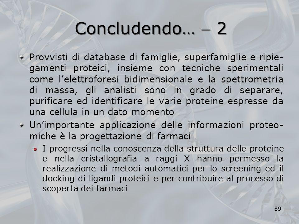 Concludendo…  2