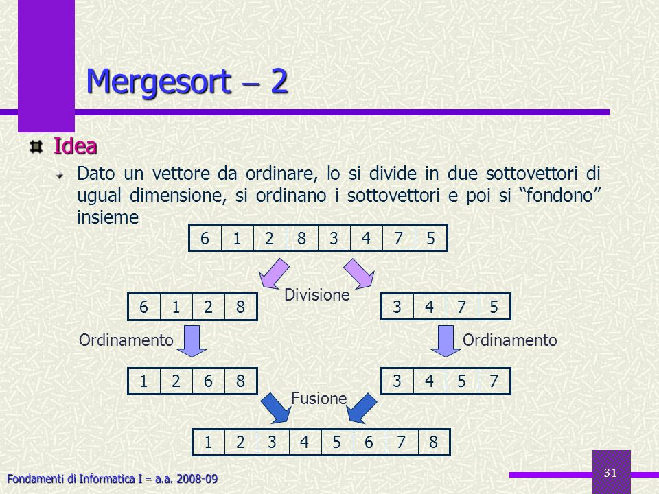 Mergesort  2 Idea.