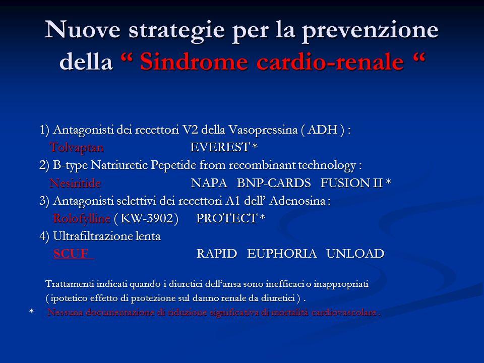 Nuove strategie per la prevenzione della Sindrome cardio-renale