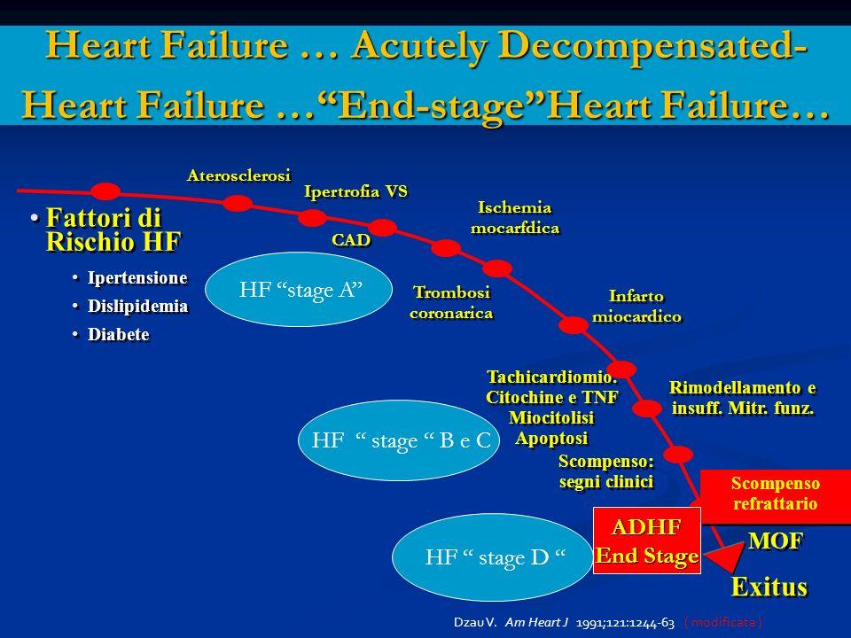 * Heart Failure … Acutely Decompensated- Heart Failure … End-stage Heart Failure… Fattori di Rischio HF.