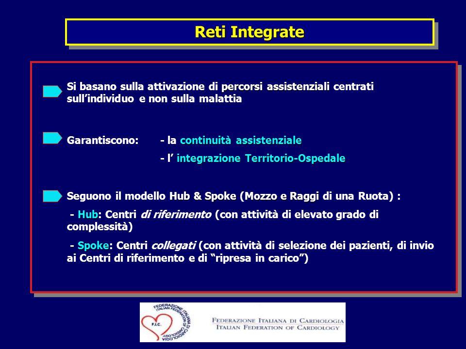 Reti Integrate Si basano sulla attivazione di percorsi assistenziali centrati sull'individuo e non sulla malattia