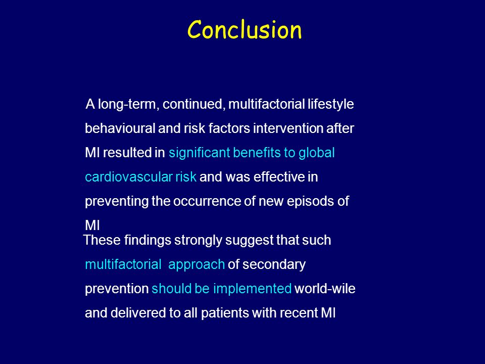 behavioural and risk factors intervention after