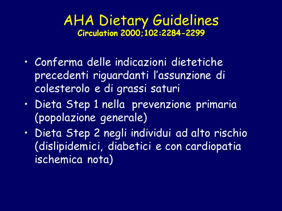 AHA Dietary Guidelines Circulation 2000;102:2284-2299