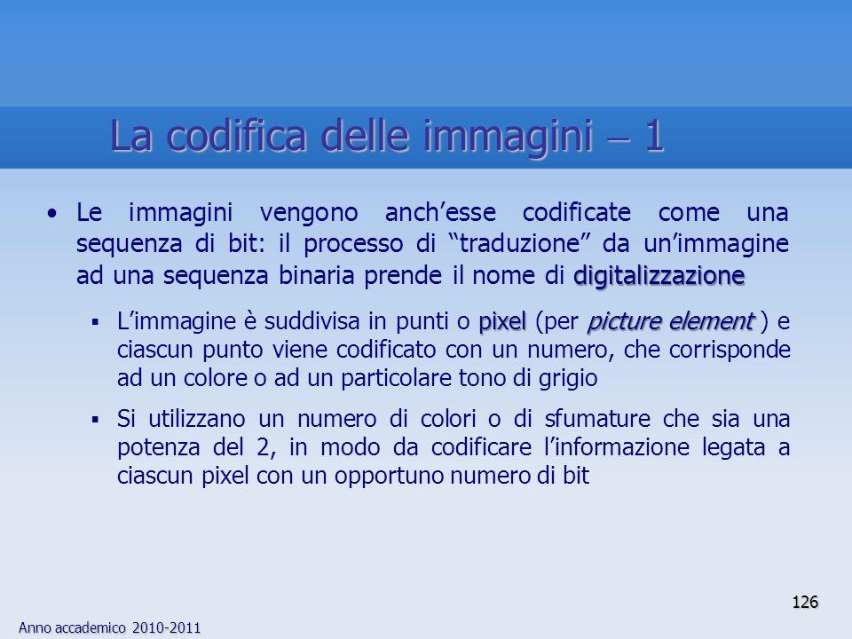 La codifica delle immagini  1