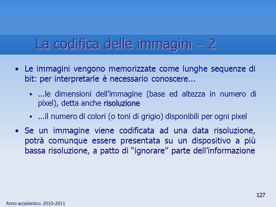 La codifica delle immagini  2