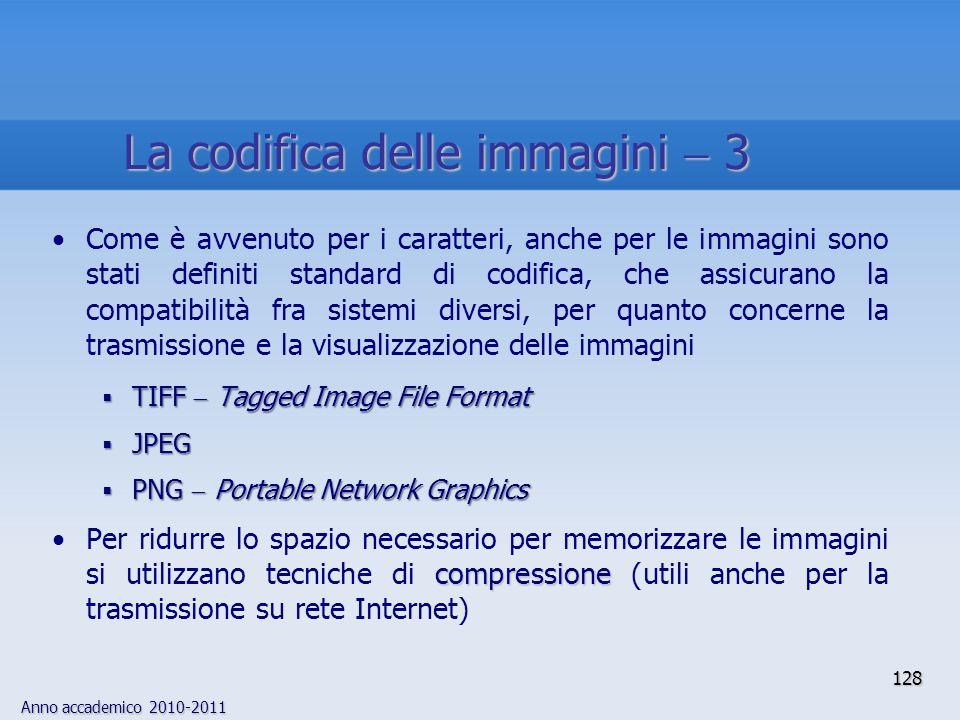 La codifica delle immagini  3