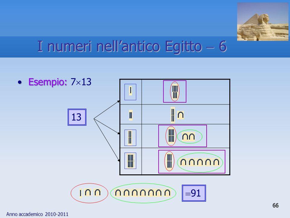 I numeri nell'antico Egitto  6