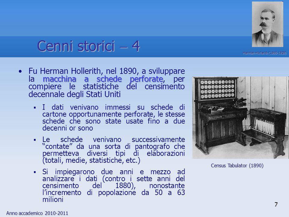 Cenni storici  4 Herman Hollerith (1860-1929)