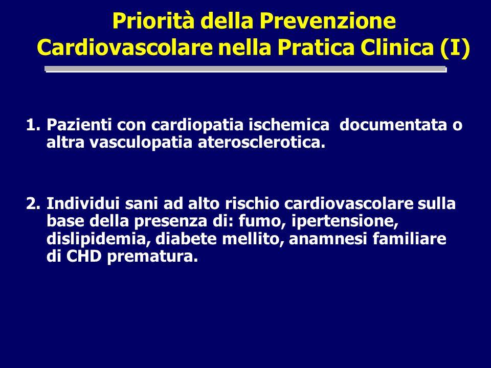 Priorità della Prevenzione Cardiovascolare nella Pratica Clinica (I)