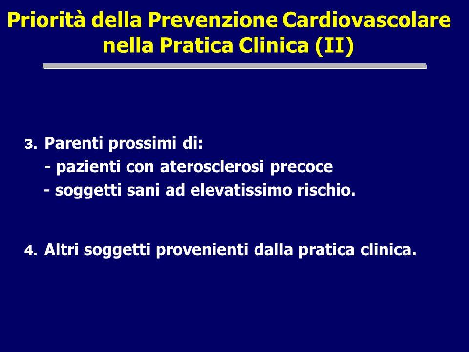 Priorità della Prevenzione Cardiovascolare nella Pratica Clinica (II)