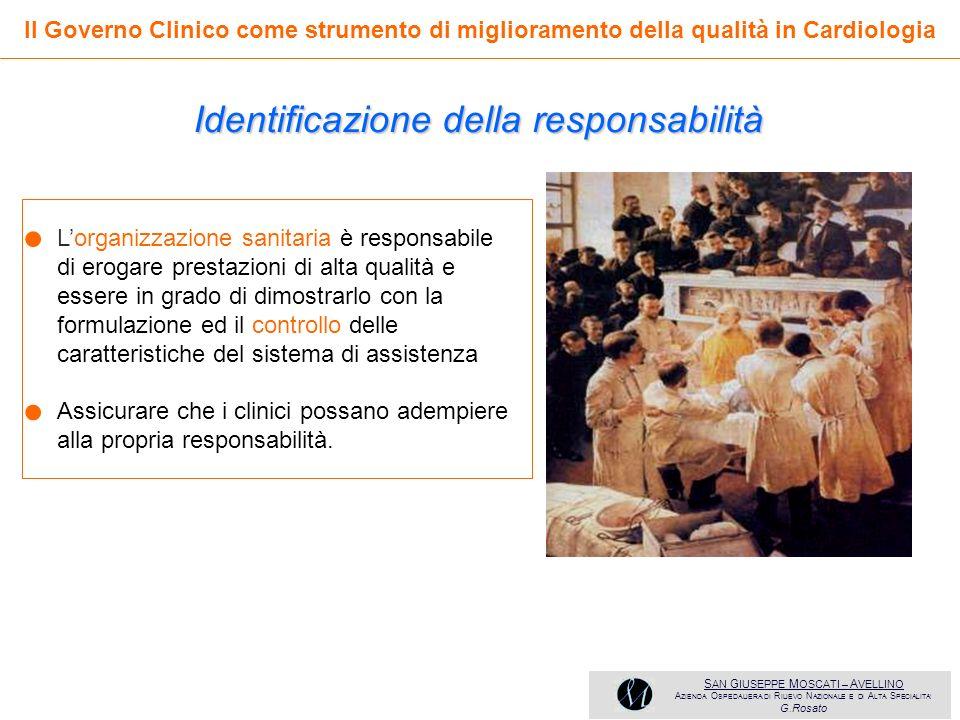 • • Identificazione della responsabilità
