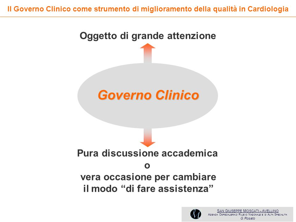 Governo Clinico Oggetto di grande attenzione