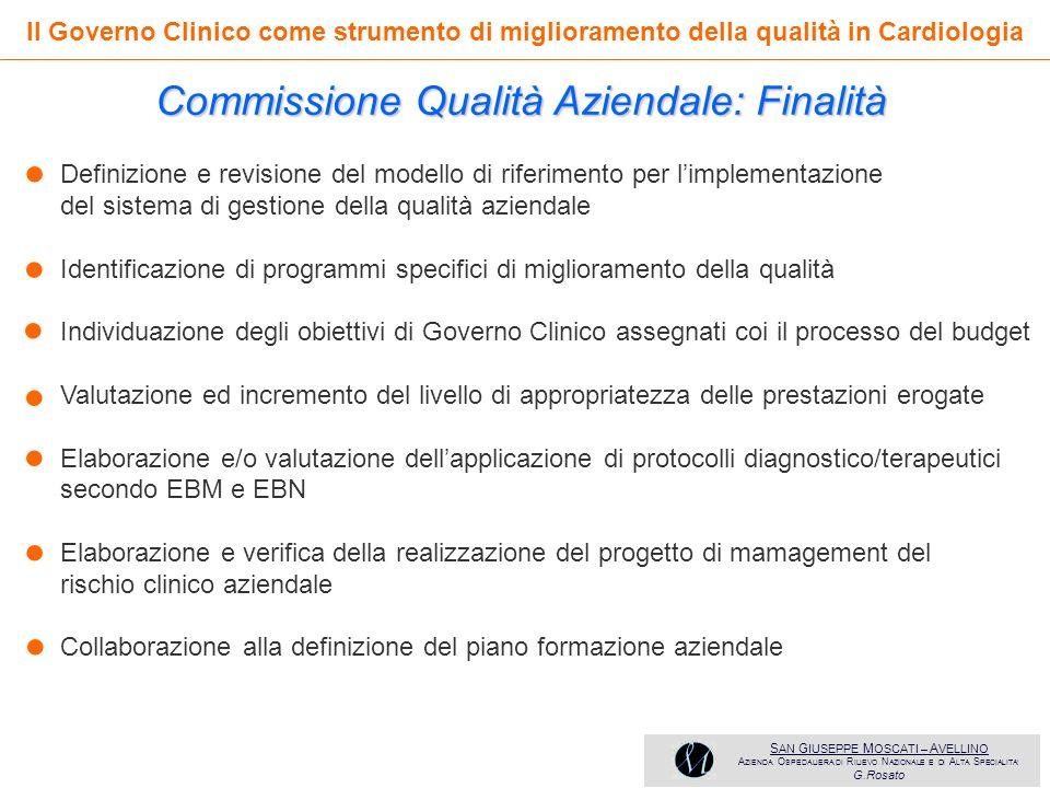 • • • • • • • Commissione Qualità Aziendale: Finalità