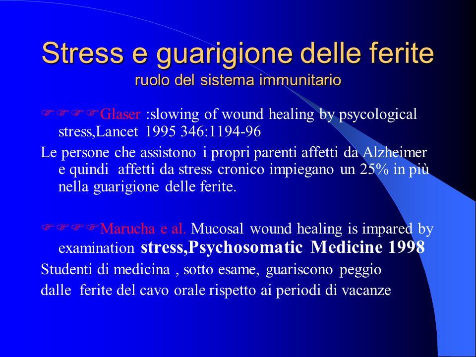 Stress e guarigione delle ferite ruolo del sistema immunitario