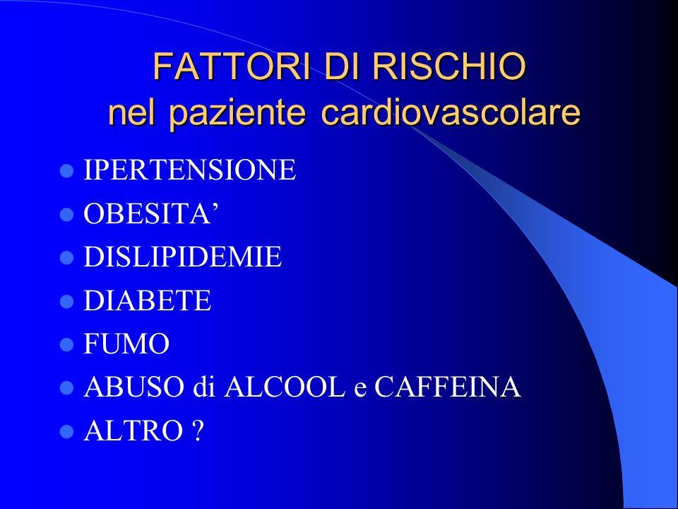 FATTORI DI RISCHIO nel paziente cardiovascolare