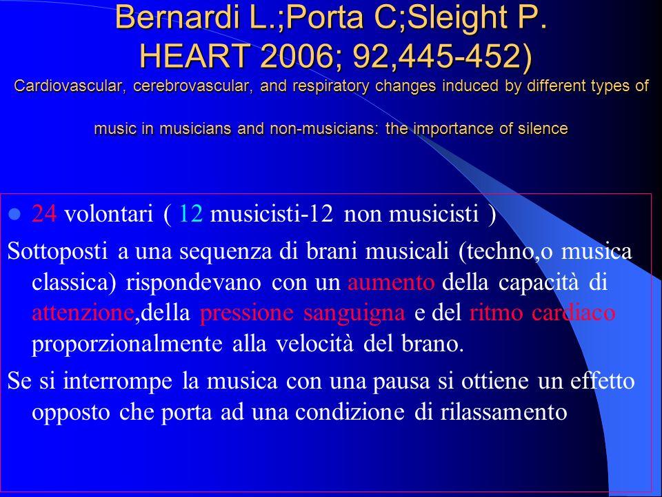 Bernardi L. ;Porta C;Sleight P