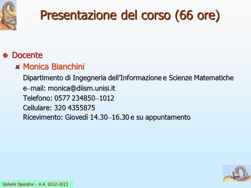 Presentazione del corso (66 ore)