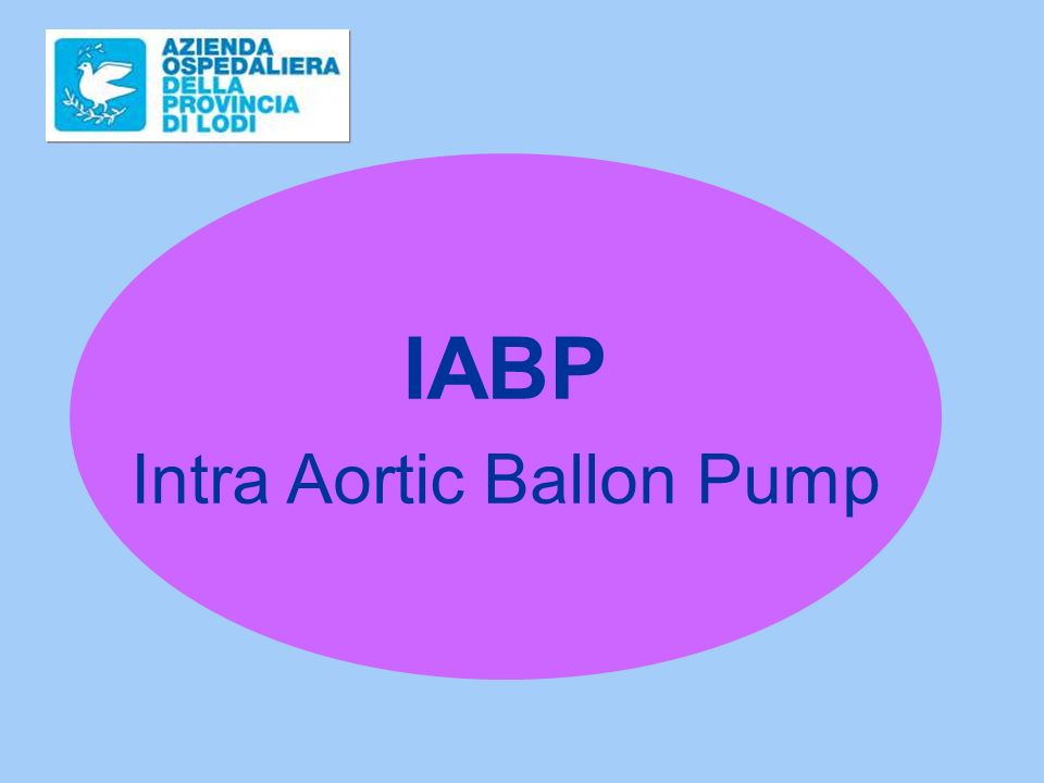 Intra Aortic Ballon Pump