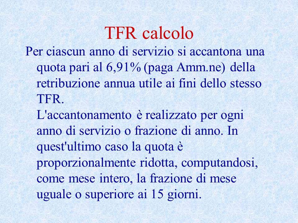 TFR calcolo