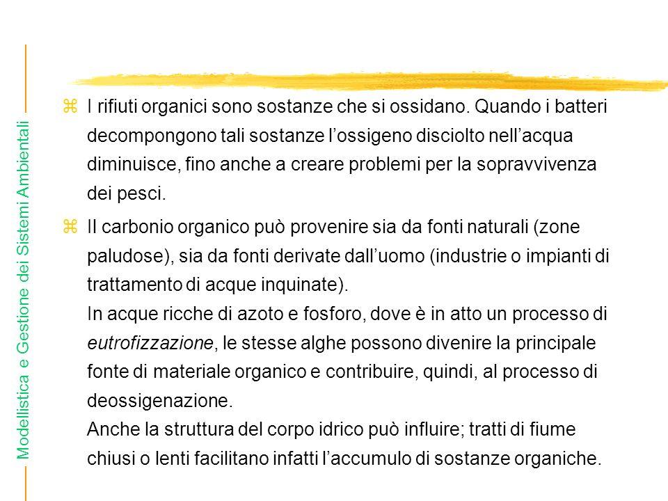 I rifiuti organici sono sostanze che si ossidano