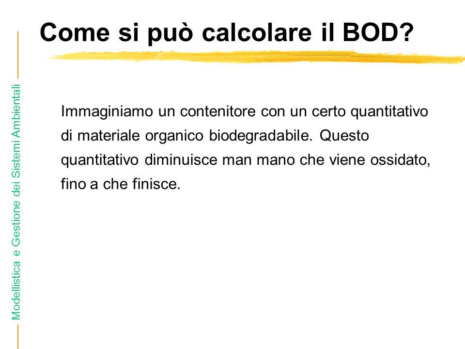 Come si può calcolare il BOD