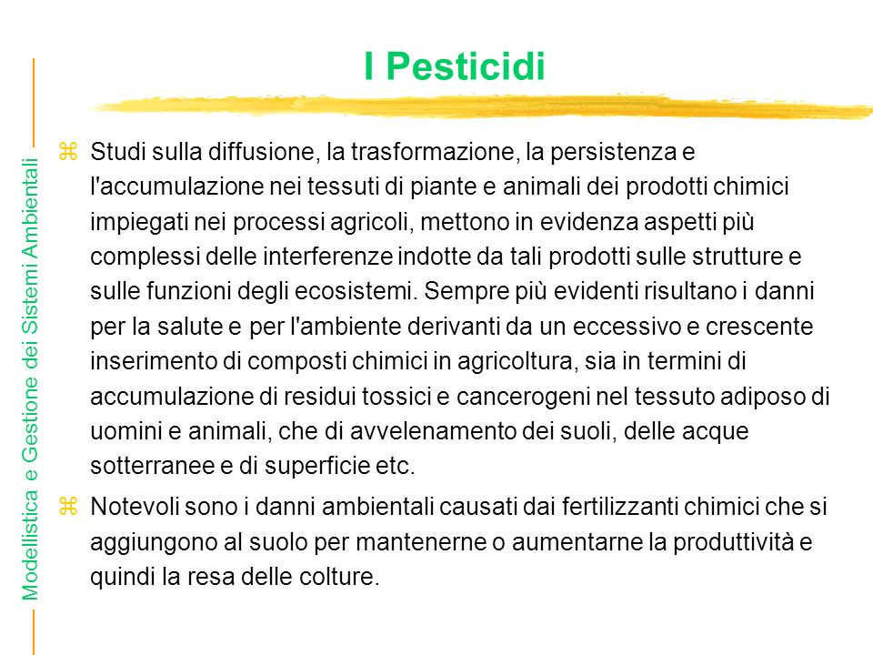 I Pesticidi