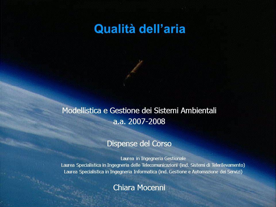 Qualità dell'aria Modellistica e Gestione dei Sistemi Ambientali